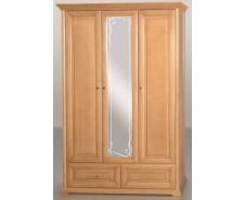 Шкаф 3 дв. рамка овальная (сосна) [Шкаф 3 дв.]